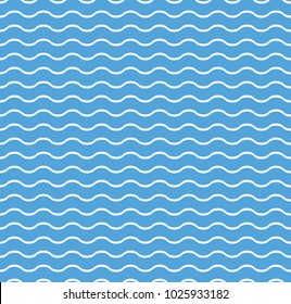 Waves lines seamless vector pattern. Design elements for wallpaper, wrapping paper, background, surface texture and fill, card, templates