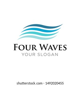 Waves Logo Design Template Inspiration