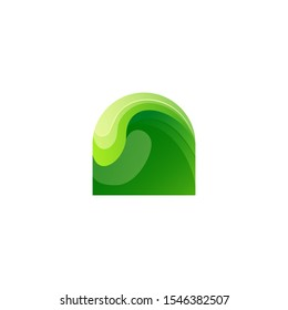 waves logo design vector abstract