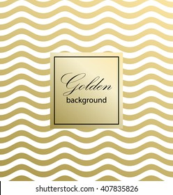 Waves on a white background. Gold pattern. Classic Pattern. Vector illustration.