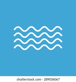 Waves outline icon, modern minimal flat design style. Wave thin line symbol, vector illustration