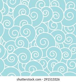 Waves seamless pattern.
