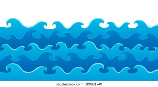 Waves theme image 5 - vector illustration.