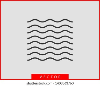 Waves vector design. Water wave icon. Wavy lines isolated.