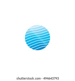 Waves Vector Template for Company Logo Design