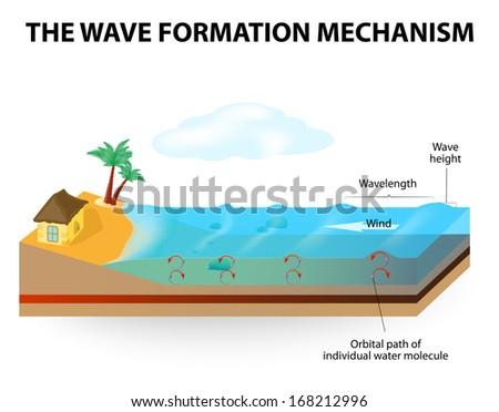 Waves Water Do Not Move Horizontally Stock Vector Royalty Free