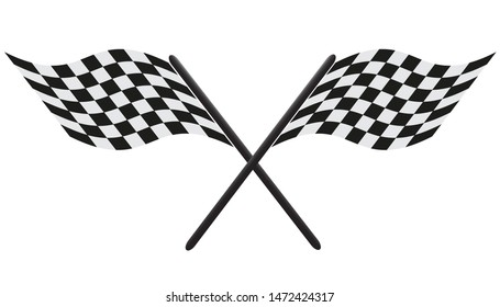 waving finish flags.racing checkered flags.