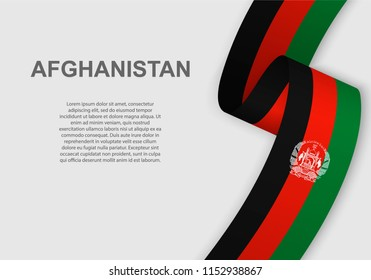 waving flag of Afghanistan. Template for independence day. vector illustration
