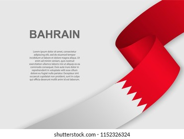 waving flag of Bahrain. Template for independence day. vector illustration