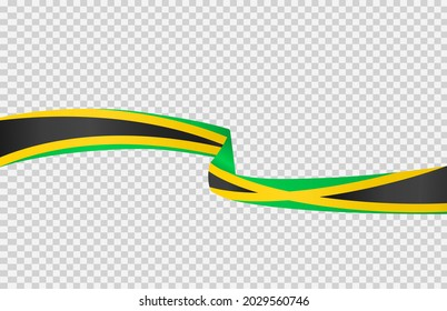 Waving flag of Jamaica isolated  on png or transparent  background,Symbol of Jamaica,template for banner,card,advertising ,promote, vector illustration top gold medal sport winner country
