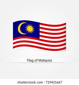 Waving flag of Malaysia vector illustration.