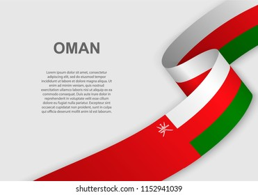 waving flag of Oman. Template for independence day. vector illustration