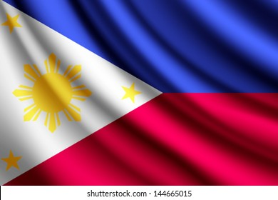 Waving flag of Philippines, vector