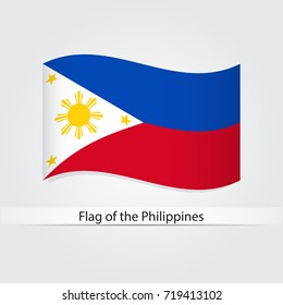 Waving flag of Philippines vector illustration.