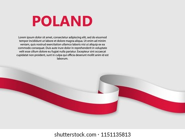 Waving Flag of Poland, vector illustration