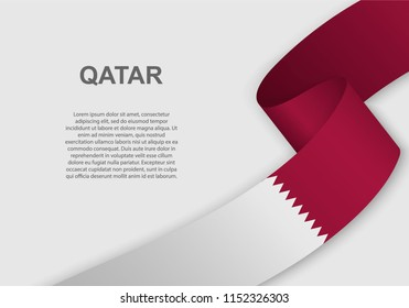 waving flag of Qatar. Template for independence day. vector illustration
