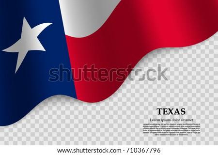 waving flag texas state usa on stock vector royalty free 710367796