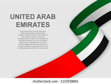 waving flag of United Arab Emirates. Template for independence day. vector illustration