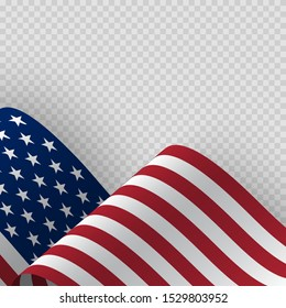 Waving flag of the United States of America.