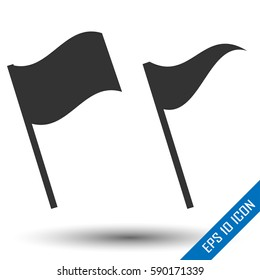 Waving Flags and Banners for Icons, Presentations, Web Pages. Vector illustration.