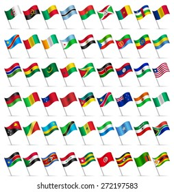 Waving Flags of the world, part 6/6 Africa