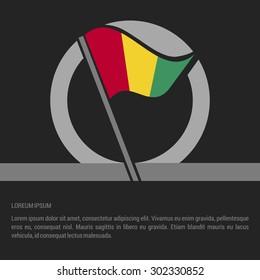 Waving Guinea Flag badge design - independence day Label - Vector illustration