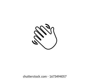 Waving hand gesture emoji vector isolated icon illustration. Waving hand emoticon