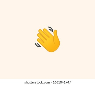 Waving Hand gesture icon. Waving Hand Emoji. Emoticon illustration