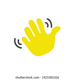 Waving hand gesture icon. Waving hand gesture vector isolated on white background. for a landing page, mobile application interface