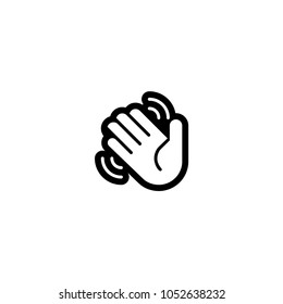 Waving hand icon. Vector waving hand sign
