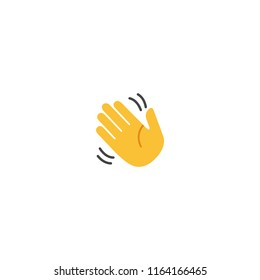 Waving Hand Vector Flat Icon
