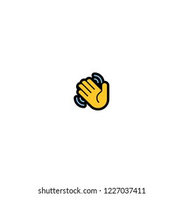 Waving Hand Vector Isolated Flat icon