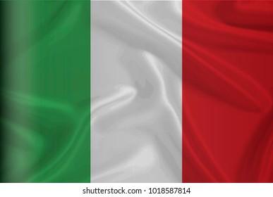 Waving Italian  flag, high resolution