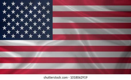 Waving USA flag as background, high resolution