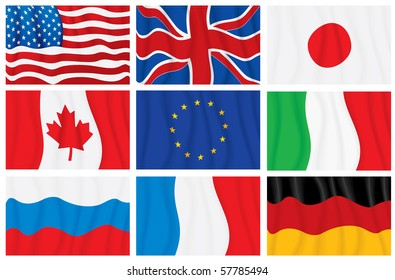 Waving Vector Flags, Countries Members of the G8 group
