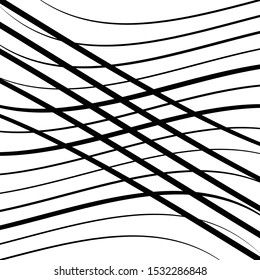 Waving, wavy lines pattern. Billowy, undulating tangle lines grid,mesh. Interlace undulating stripes. Squiggle, squiggly, wobbly interlock, intersecting strips, streaks. Abstract background, texture