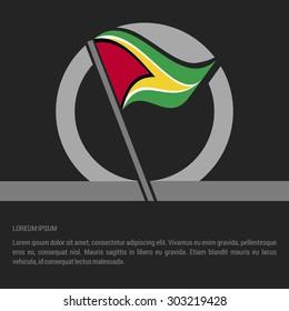 Waving XXX Flag badge design - independence day Label - Vector illustration
