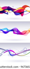 Wavy background with colorful lines