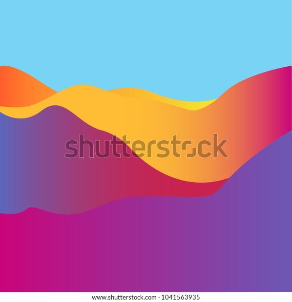 Wavy Background. Dynamic Effect.Vector Illustration. Design Template