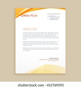 wavy business letterhead design