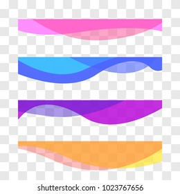 Wavy design element. Decor for brochure, banner, flyer. Fluid, color wave, curve line. Vector illustration