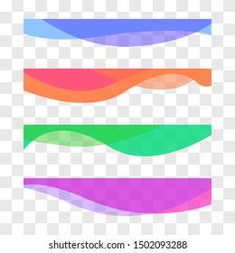 Wavy design element. Decor for brochure, banner, flyer. Fluid, color wave, curve line. Vector illustration