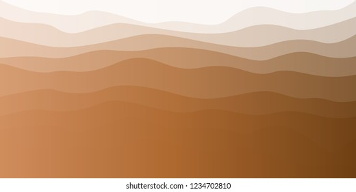 Wavy element pattern background vector. Design dune gradient brown gold on white background. Design print for illustrations, background, backdrop, textile, banner. Set 3