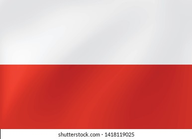 Wavy flag of Poland for site, sports, travel, state and other events - Vector illustration