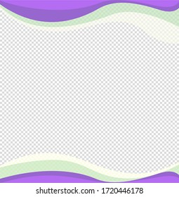 Wavy frame design element. Decor for brochure, banner, flyer. Color wave, curve line. Vector illustration