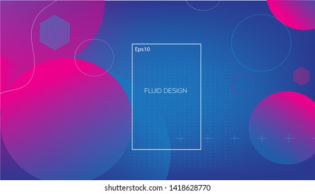 Wavy geometric background. Trendy gradient shapes composition. Eps10 vector. - Vector