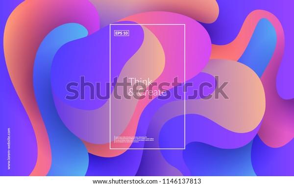幾何学的な背景。トレンディグラデーションシェイプのコンポジション。EPS10のベクター画像。