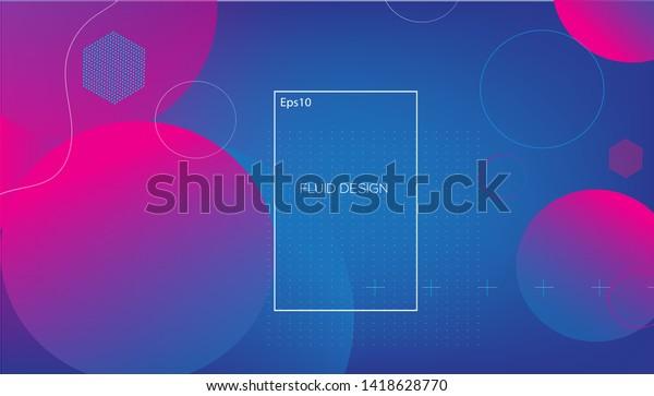 幾何学的な背景。トレンディグラデーションシェイプのコンポジション。EPS10のベクター画像。 – ベクター画像