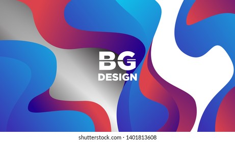 Wavy geometric backgrounds with red and blue color gradient compositions and tragedies. Vector EPS.10