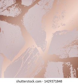 wavy, graceful lines in the form of sea stones in the style of pink gold. modern gold, whitish texture in a minimalist style for design. vector illustration.